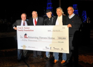 tom turner family foundation returning heroes home